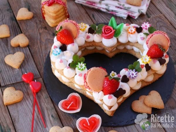 Ricetta cream tart a forma di cuore