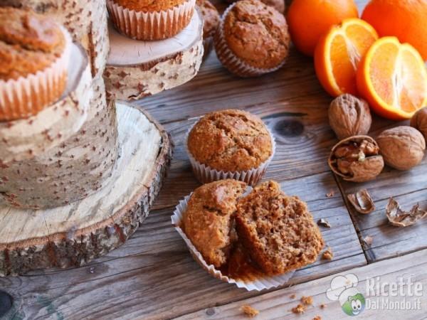 Ricetta muffin arancia e noci vegani