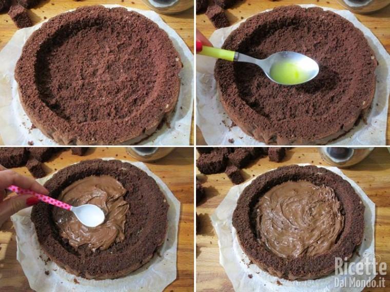 Torta mimosa Nutella e mascarpone 10