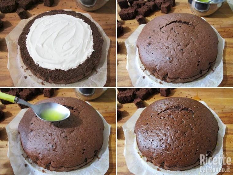 Torta mimosa Nutella e mascarpone 11