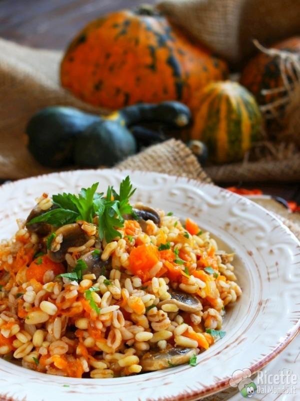 Come fare il riso ai 5 cereali con zucca e funghi