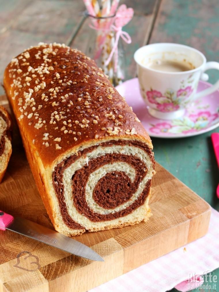 Come fare il pan brioche bicolore vortice
