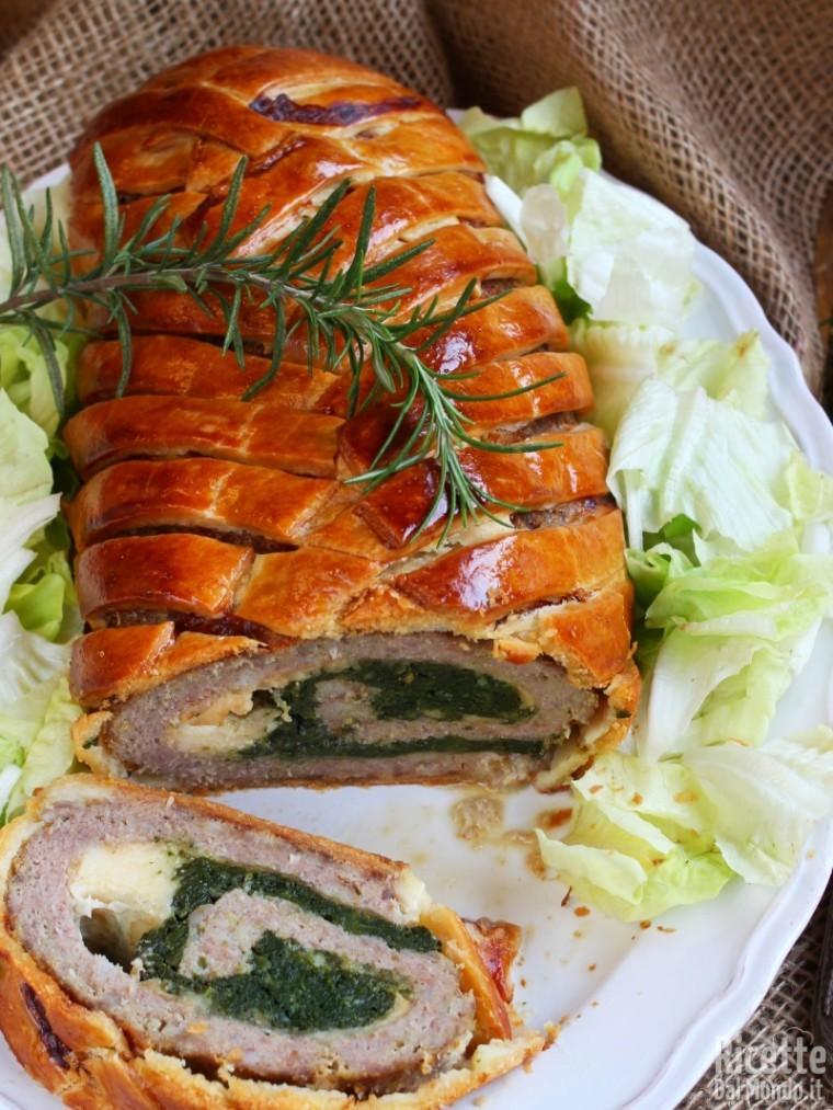 Ricetta polpettone in crosta farcito con provola e spinaci