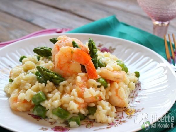 Ricetta risotto gamberi e asparagi