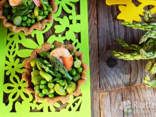 Cestini con primizie di verdure