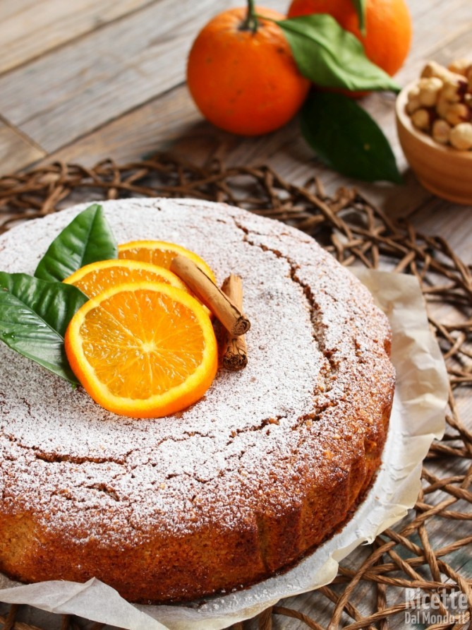 Ricetta torta arancia e cannella vegana