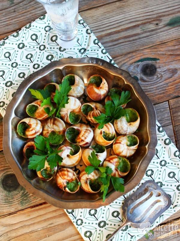 Ricetta escargot à la Borguignonne
