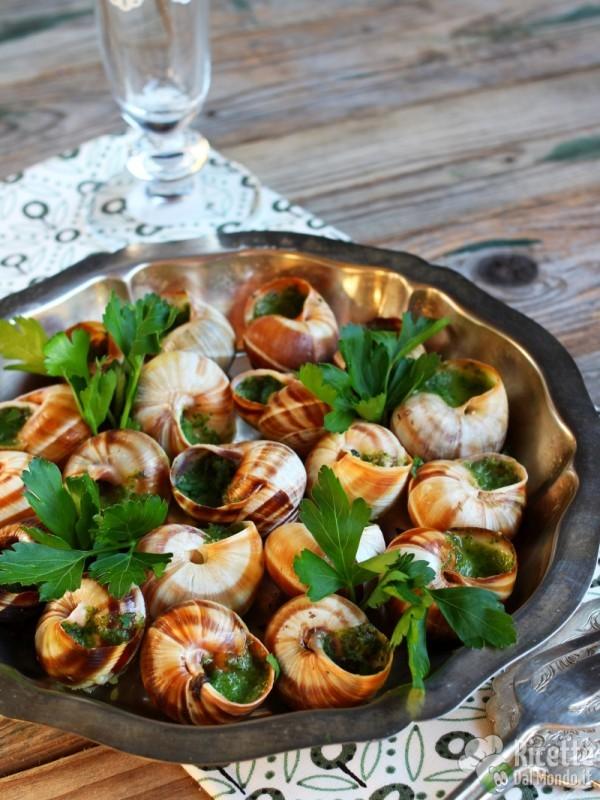 Escargot à la Borguignonne, cucina francese