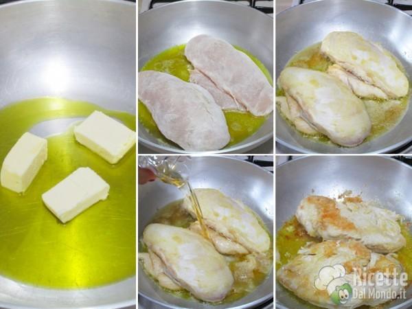 Petto di pollo in padella con succo di arancia 3