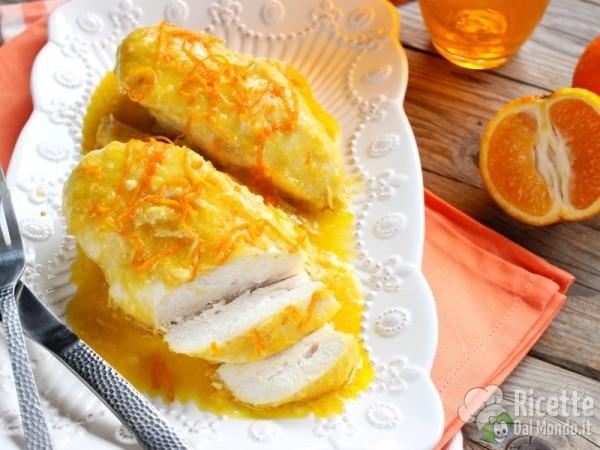 Pollo al succo di arancia