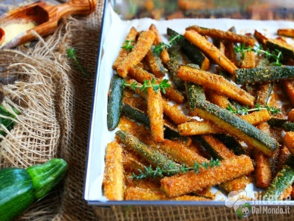 Zucchine croccanti al forno 6