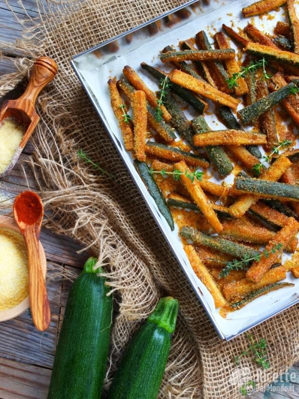 Ricetta bastoncini di zucchine al forno