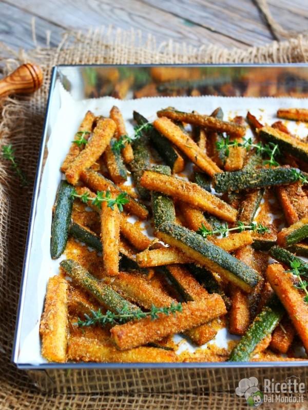 Come fare i bastoncini di zucchine al forno