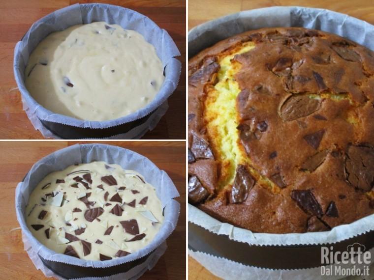 Torta soffice con le scaglie di cioccolato 4