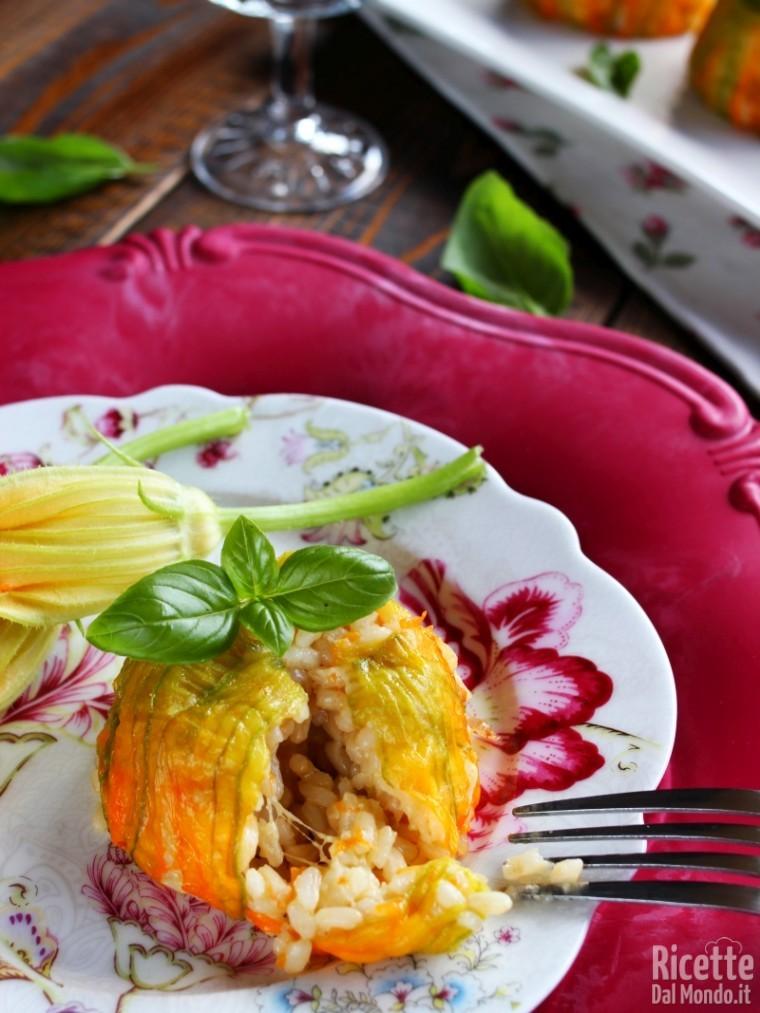 Come fare gli sformatini di riso zucca e fiori