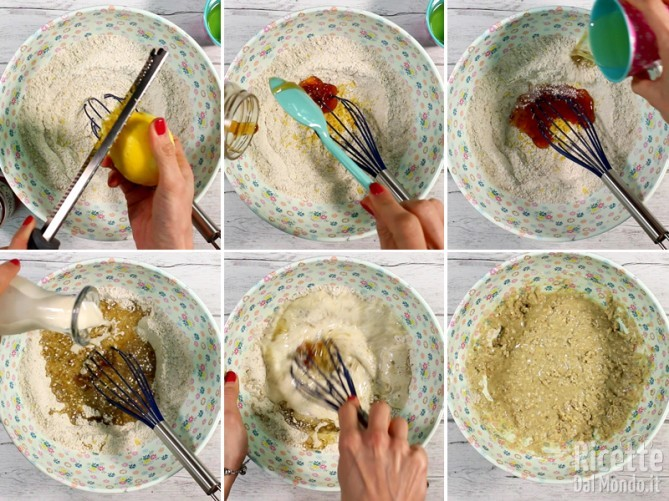 Torta senza glutine con mandorle e tè matcha 4