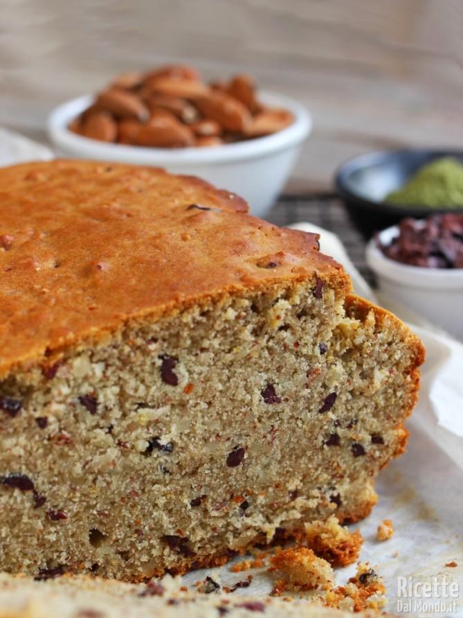 Come fare il plumcake senza glutine al tè matcha