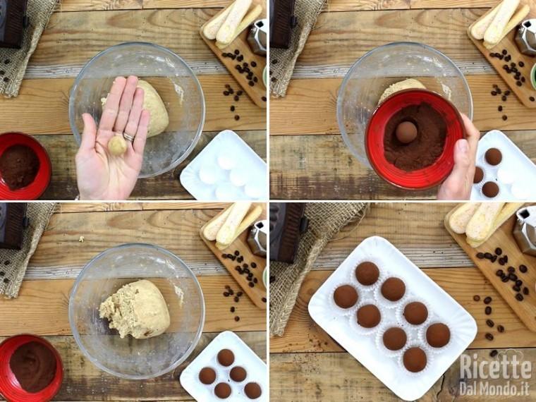 Piccoli tartufi con crema al tiramisù 5