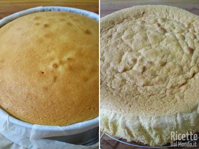 Torta farcita con panna e fragole 6