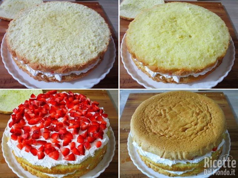 Torta panna e fragole 9