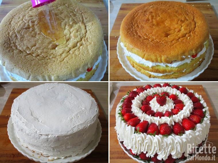 Torta panna e fragole 10