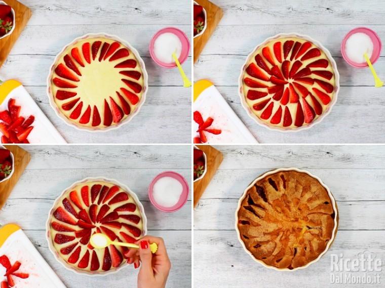 Torta soffice con le fragole fresche 7