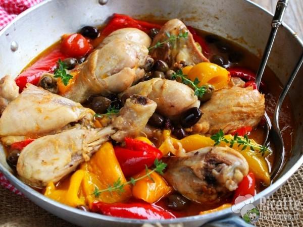 Cosce di pollo ai peperoni alla romana