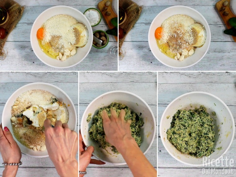 Polpette spinaci e ricotta 4