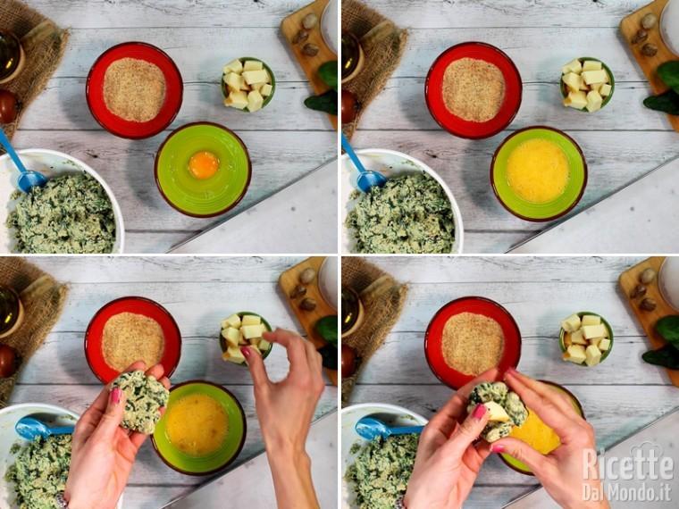 Polpette spinaci e ricotta 5