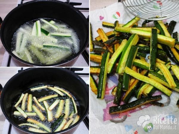 Zucchine fritte marinate in carpione 6
