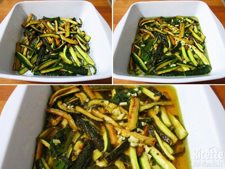 Zucchine fritte marinate in carpione 7