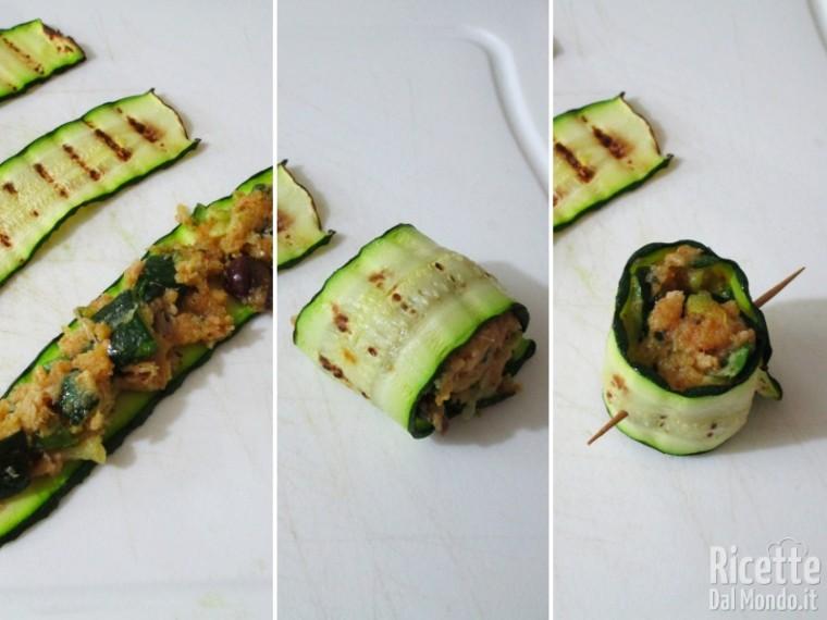Involtini con tonno e zucchine 6