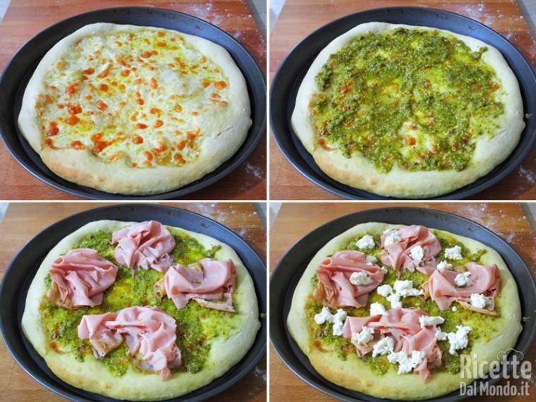 Pizza con pesto di pistacchio e mortadella 6