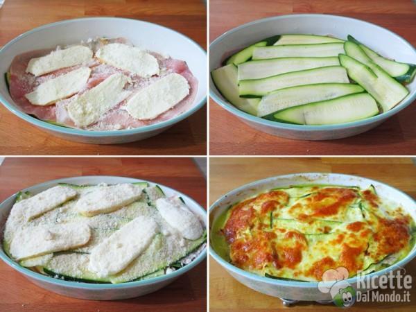 Parmigiana bianca di zucchine tutto a crudo 4