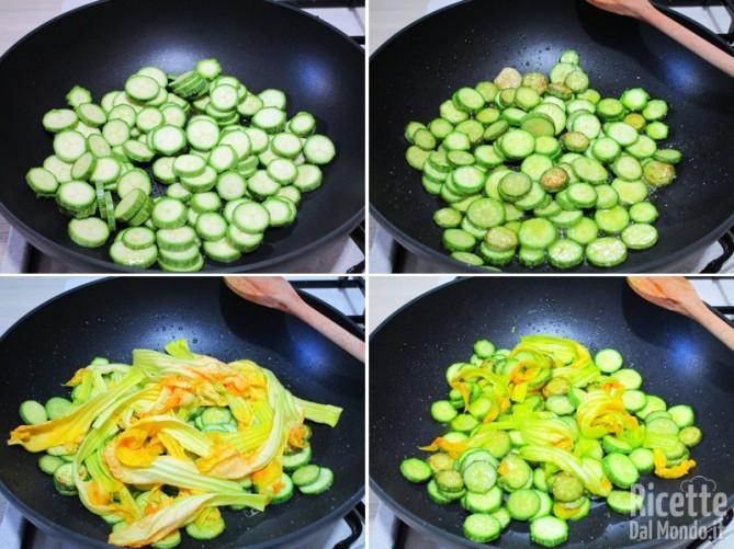 Farro zucchine e fiori 3