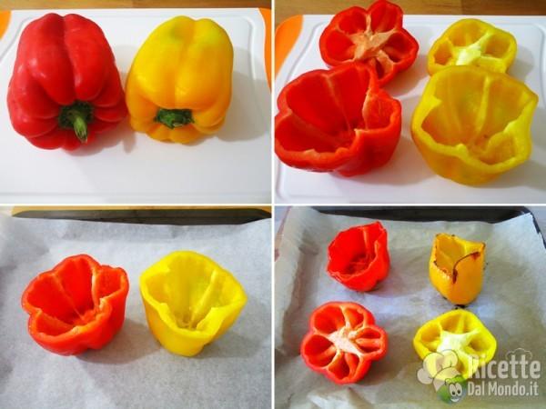Pulire e cuocere i peperoni