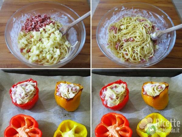 Riempire i peperoni e cuocere