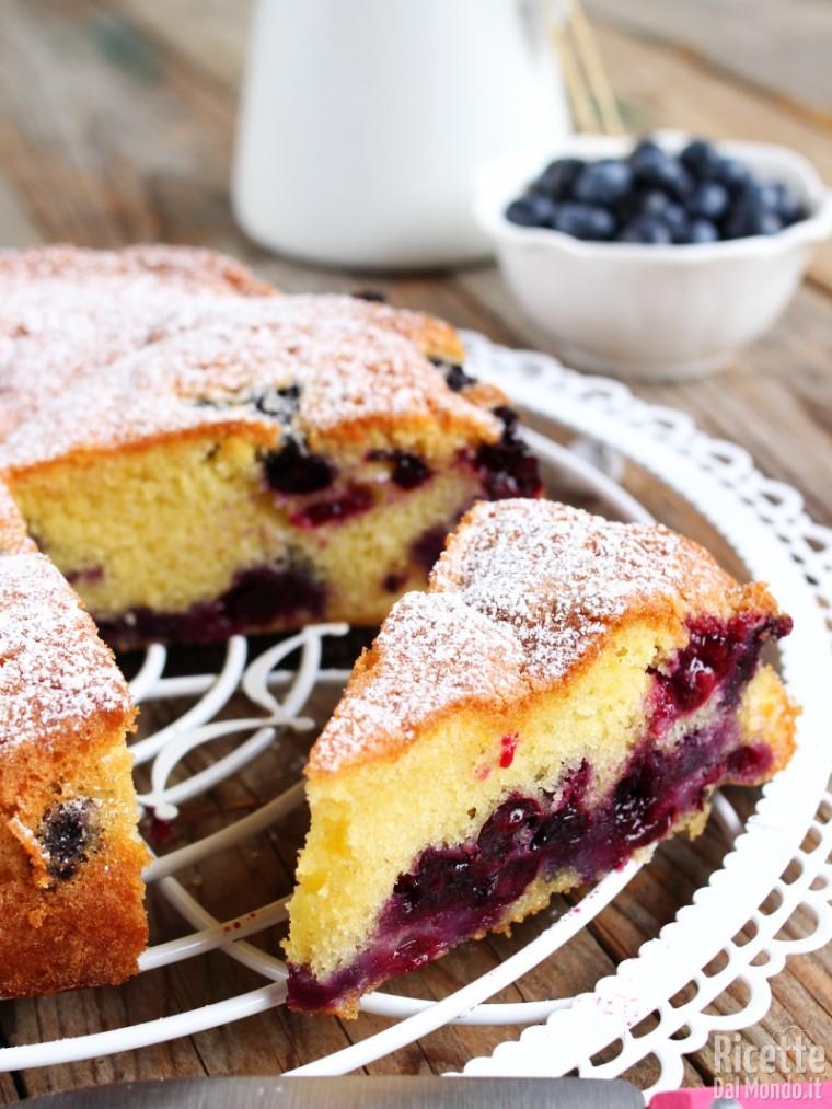 Ricetta torta ai mirtilli morbidissima