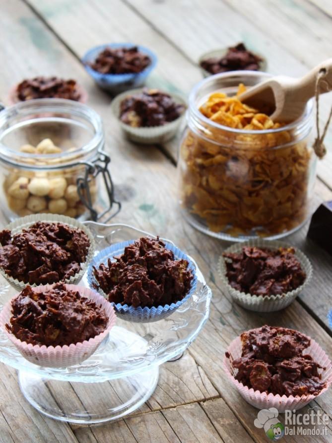 Ricetta rose al cioccolato senza cottura