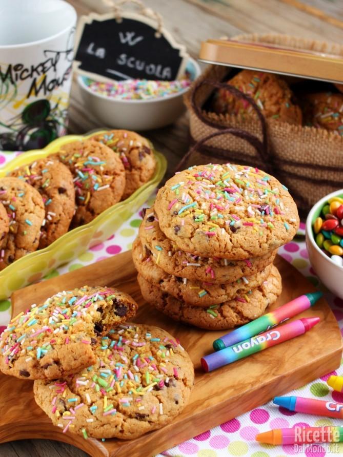 Ricetta per fare i cookies americani