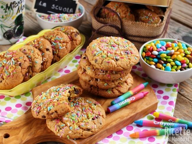 Ricetta Cookies arcobaleno