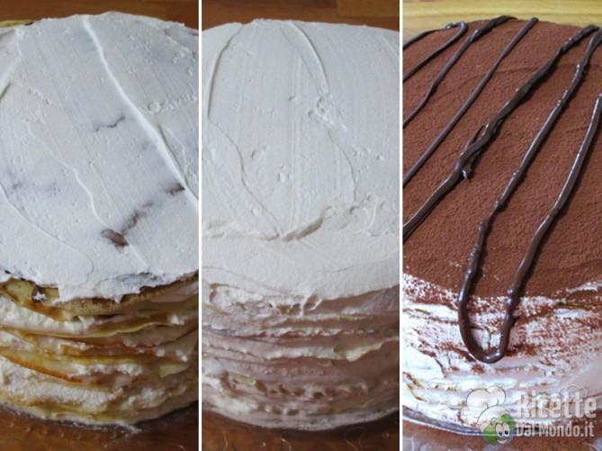Assemblare la torta e farla raffreddare