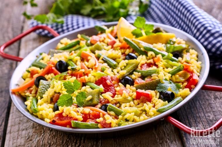 Paella di verdure vegetariana
