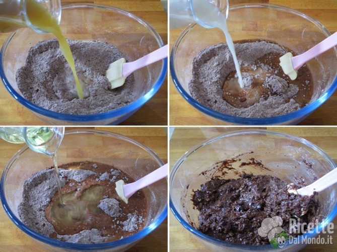 Unire gli ingredienti liquidi