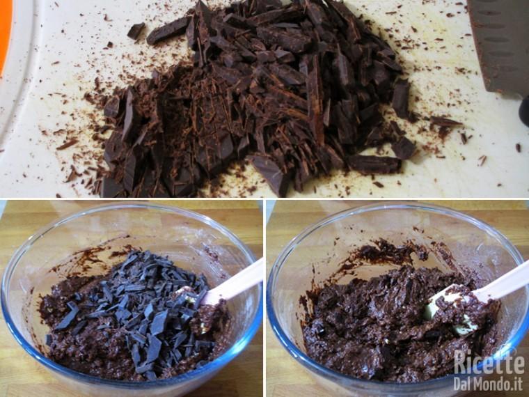 Aggiungere il cioccolato tirtato