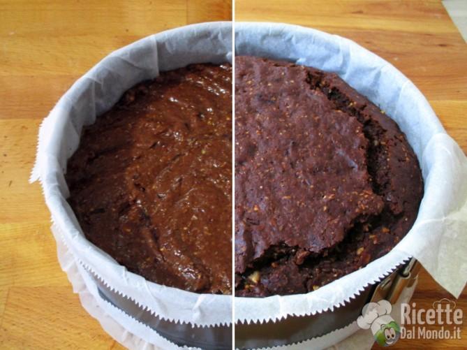 Cuocere la torta in forno
