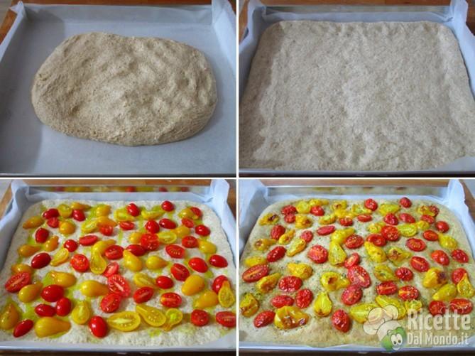 Farcire e cuocere la pizza