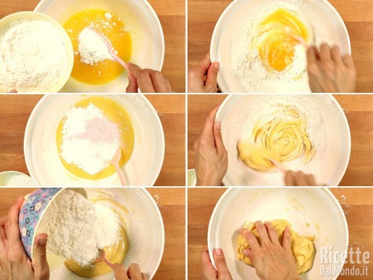 Unire la farina, incorporandola poca alla volta