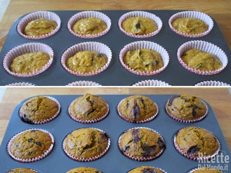 Cuoci i muffin in forno preriscaldato