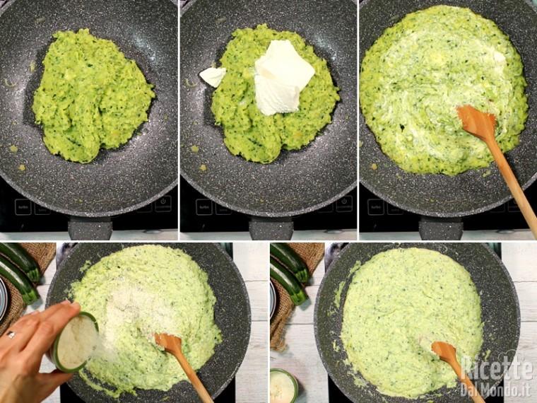 Lavorare la crema di verdure con la ricotta
